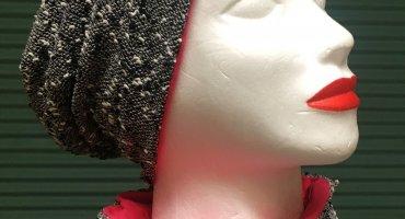női kifordítható sapka és sál szett